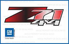 set of 2 - Z71 4x4 Chevy Silverado 07-13 Decals Stickers Black Red Fade GRBLKRD