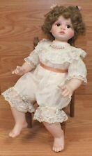 """Genuine Ann Timmerman """"Peaches & Cream"""" Sitting in Chair Porcelain Baby Doll"""