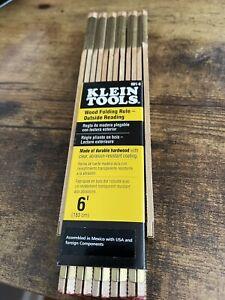 Klein Tools 6' Wood Folding Rule, Outside Reading Item # 901-6
