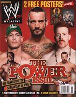 WWE Magazine CM Punk, Shamus, John Cena w/Poster EX 121015DBE
