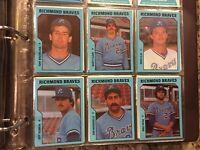 1985 TCMA RICHMOND BRAVES complete Minor League Team Set