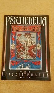 PSYCHEDELIA:THE CLASSIC POSTER BOOK-Published 1990-Featuring 1960's Rock Bands