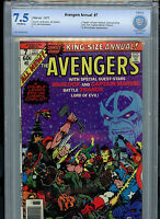 Avengers King-Size Annual #7 CBCS 7.5 Thanos 1977 Marvel 1st Infinity Gems