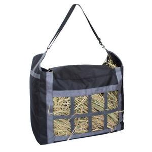 Large-capacity Black Real Oak Nylon Slow Feed Hay Tote / Bag! NEW HORSE TACK!