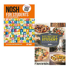 Student Cookbook 2 Books Collection Set Hungry (Student Recipes,Fun Student) NEW
