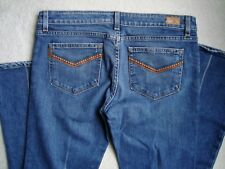 Paige Jeans Womens Size 31 Laurel Canyon Boot Cut Creased Jeans EUC