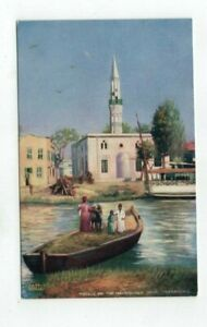 """EGYPT antique Tuck post card """"Mosque on the Mahmoudieh Canal - Alexandria"""""""