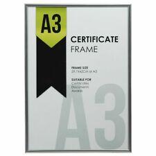 A3 Certificate Frame Silver