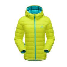 Fashion Women Hoodie Water Resistant Duck Down Coat Hiking Winter Puffer Jacket