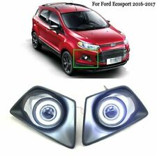 LED COB Angel Eyes+HID Lamp Projector Lens Foglights For Ford Ecosport 2016-2017