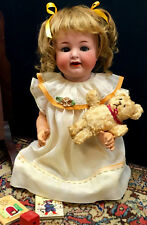 c.1890s WIGGLE-WOGGLE TONGUE K*R Simon Halbig #126 Antique Baby Doll Bisque Head