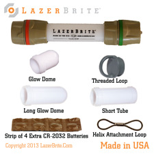 LazerBrite® Tactical Light System - Red & Green LED -  Dual Removable Heads