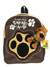 Scooby Doo Safari Camp Brown Backpack Bookbag Kid Boy School Shoulder Bag