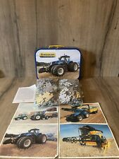 Schmidt New Holland Tractor jigsaw puzzles in a tin Suitcase 200 Piece 56507