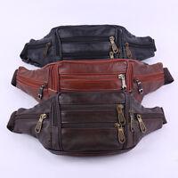Men Retro Leather Waist Bag Phone Belt Fanny Pack Purse Bag Wallet Travel USA