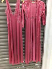 Vintage Lily of France Rosa Puleo Szule Night Gown And Matching Robe Read 4 Size