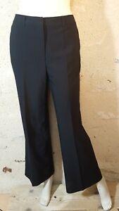 CAROLL  Taille 40 Superbe pantalon noir femme en polyester