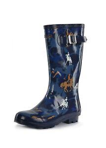 Thomas Cook Ladies Deloraine Gum Boot - Navy - Sizes 6 to 11