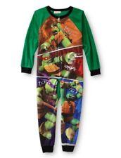 Teenage Mutant Ninja TURTLES Fleece Pajamas Boy's 8 NeW TMNT Zip-Up Pjs NWT