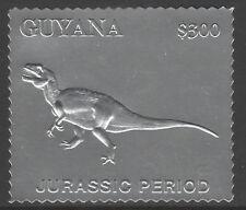 Guyana 6186 - 1994 JURASSIC PARK DINOSAUR  embossed in SILVER FOIL