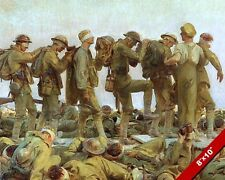 WWI WORLD WAR 1 CHEMICAL GASSED SOLDIERS OIL PAINTING ART PRINT ON REAL CANVAS