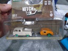1.64 VW AND TRAILER CHASE PIECE  GREENLIGHT DIECAST