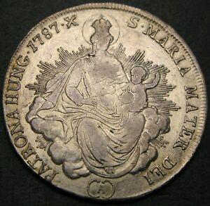 HUNGARY 1/2 Thaler 1787 A - Silver - Joseph II. - VF - 1937 *