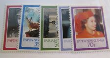 PAPUA NEW GUINEA Scott #640-44 ** MNH QEII postage stamp set