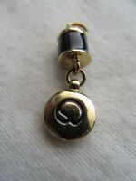 John Knit Goldtone NWOT St Black Enamel  Zipper Pull  5//8/""