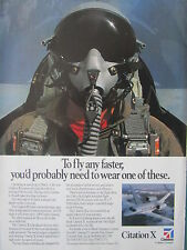 6/1995 PUB CESSNA AIRCRAFT TEXTRON AVION CITATION X PILOT HELMET CASQUE AD