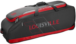 DEMO Louisville Slugger WTL9505 Omaha Rig Wheeled Bag Red Baseball / Softball