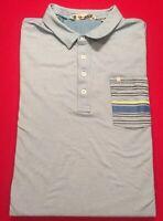 Travis Mathew S/S Polo Golf Shirt Blue Chest Pocket w/logo Men's 2XL