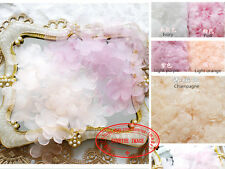 10pc, Organza Ribbon Flower Appliques Crafts headdress sewing decoration FL13