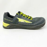 Altra Mens Zero Drop Hiit XT AFM1776P-4 Gray Lime Running Shoes Lace Up Size 11