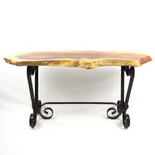 Wrought Iron Coffee Table With Timber Top