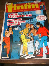 Tintin Hebdomadaire N° 541 41e année 1986 Poster Auto Neige Buddy Longway Aria