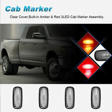 4* Clear Lens Dually Side Marker Fender Lights Fit 03-09 Dodge Ram 3500 Pickup