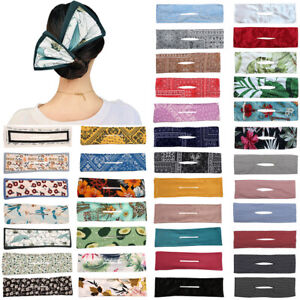 Women Deft Bun Hair Bands Bow Knotted Iron Wire Lady Headband Print Hair Tools