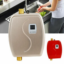 3000W Water Heater Tankless Instant Water Heating Electric 110V Gold/Red