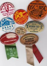 Mixed College Football Homecoming Button Pin Pinback Badge Lot (8)