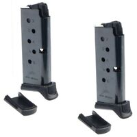 Ruger LCP or LCP II 380acp 6rd Blue 2-Bottom Factory Magazine 2-PACK