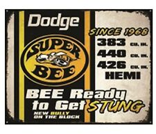 Dodge Super Bee 12 x 16 Metal Sign Man Cave Wall  FAST USA SHIPPING