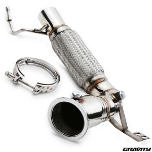 STAINLESS SPORT RACE EXHAUST DE CAT DECAT PIPE FOR BMW MINI F56 COOPER S 2.0T