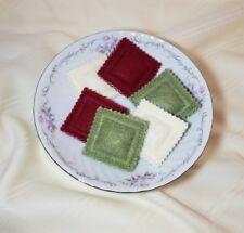 Felt pretend play food TRI-Colored RAVIOLI - embroidery - handmade  kitchen NEW