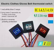 3.7~12V Heated Vest Gloves Kneepad DIY Temperature Controller Rheostat Switch