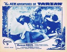 NEW ADVENTURES OF TARZAN 1935 Herman Brix Chapter 9 VINTAGE SERIAL Lobby Card 5