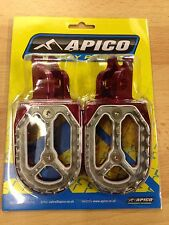 HONDA CR 125 CR 250 2002-2007 APICO PRO BITE WIDE FOOTPEGS FOOT RESTS PEGS