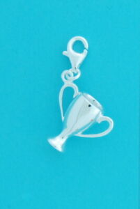 Genuine 925 Sterling Silver Clip On Trophy Charm