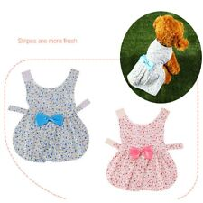 Pet Clothing Summer Cute Princess Bow Floral Dress Skirt Teddy Costume For Dog