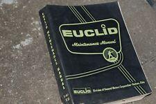 EUCLID TD Series REAR DUMP TRUCK Maintenance Service Repair Manual overhaul shop